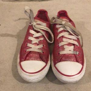 Converse CTAS Kid Sparkle Low - Raspberry